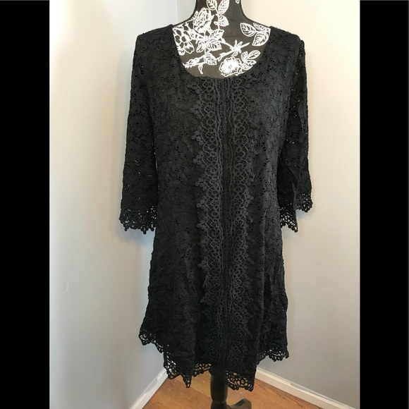 3e2c3fa40f96e Alfani Dresses & Skirts - 💕Alfani crochet trim illusions shift dress, ...